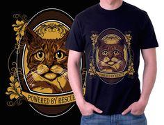 Animal Lover T-shirt design by Enricc0. #design #tshirt #cats #illustration #design