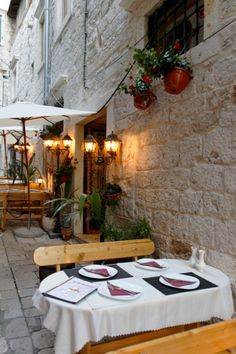 Outdoor Cafe, Sibenik, Croatia