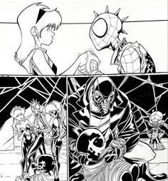 WEB WARRIORS for Marvel Comics. Pencils: David Baldeon, Inks: Walden Wong Sub me on www.youtube.com/WaldenWongArt . #marvel #marvelcomics #sketch #spiderham #comics #spiderman #spiderverse #illustration #arts #artwork #micron #spidergwen #comics #artworks #MCU #artwork #art #artist #draw #drawing #illustrate #arte #spidermannoir #inks #draweveryday #picoftheday #fineliner #doodleart #drawingoftheday #comicart #anime #manga