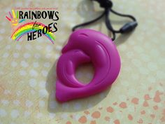 Autism Chewing Necklace teething sensory by rainbowsforheroes