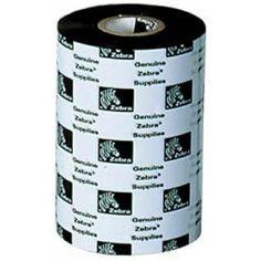 Zebra Wax Resin Ribbon in x 242 ft 5555 Standard core - Thermal Transfer - x ft Ribbon Size - 12 / Carton