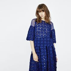 LOGAN - Top in broderie lace & A-Line midi #skirt in #broderie #lace.