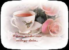 Znalezione obrazy dla zapytania herbatka na dzień dobry gif