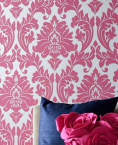 Majestic: Hot Pink Wallpaper from www.grahambrown.com