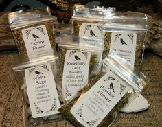 Choose any 15 bags of Magick Herbs. HERB KIT, Herb set. Wicca ~ Witch ~ Pagen - DIY Teas Wicca Starter set - Herbalist