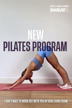 Beginner Pilates, Pilates For Beginners, Gym Workout For Beginners, Fitness Workout For Women, Fitness Workouts, At Home Workouts, Leg And Ab Workout, Gym Workout Videos, Pilates Workout