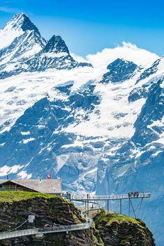 "Glorious ""Cliff Walk"" at First... Grindelwald, Switzerland"