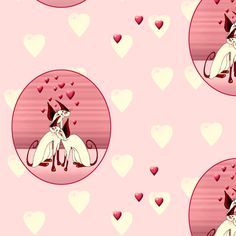 valentine siamese cats  fabric by ukgypsy on Spoonflower - custom fabric