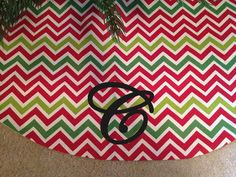 36 to 60 Chevron Christmas Tree Skirt with by daintydesignsshop, $50.00