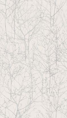 Wintertree II White wallpaper by Larsen