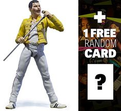 Discounted Freddie Mercury: Tamashii Nations S.H. Figuarts Action Figure + 1 FREE Music Themed Trading Card Bundle