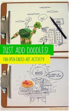 Magazine doodles- Fun open-ended art activity!
