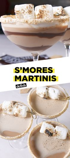 Martinis S'mores Martinis are the boozy adult way to have fun this summer.S'mores Martinis are the boozy adult way to have fun this summer. Smores Martini Recipe, Martini Recipes, Cocktail Recipes, Drink Recipes, Shot Recipes, Margarita Recipes, Cocktail Drinks, Fun Drinks, Yummy Drinks