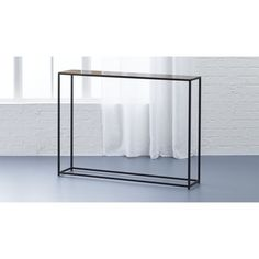 nolita mini console | CB2 ultra-thin style - maybe something like this for the bathroom or dining room if more space is needed?