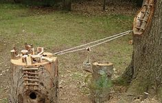 pulley system for play