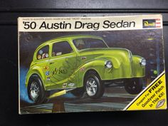Model kit box art, '50 Austin.