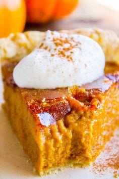 Creme Brulee Pumpkin Pie | The Food Charlatan | The Best Pumpkin Pie