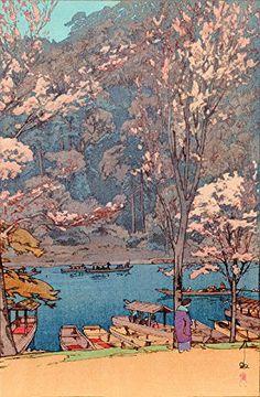 "Japanese Art Print ""Arashiyama"" by Yoshida Hiroshi. Shin Hanga and Art Reproductions http://www.amazon.com/dp/B00Y08Y6YY/ref=cm_sw_r_pi_dp_weTvwb0PW27CR"