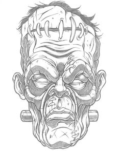 Poster illustration in process for @fear_con Will vector up, add graphic element, background, custom lettering and colors next week. #fearcon #frankenstein #pencil #illustration #sweyda #art #pencilart #illustrate #illustrated #design #poster