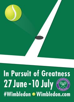 2016 Wimbledon Poster - Tennis equipment available at http://www.bishopsport.co.uk/tennis.html