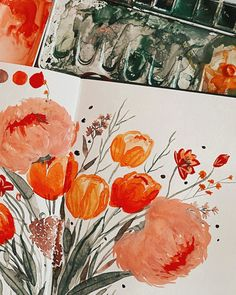 "Tanja von Die Handletterei on Instagram: ""#watercolorbouquet ✨🌿 . . . #watercolorlove #watercolorillustration #watercolor_blog #watercolor_daily #watercolorflowers #watercolorartist…"""