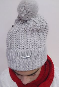 Winter gift hat oversize knit hat ribbed pattern for by AtlasScarf
