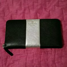 Kate Spade wallet Black and gold kate spade wallet. Lots of room. Brand new with tags kate spade Bags Wallets