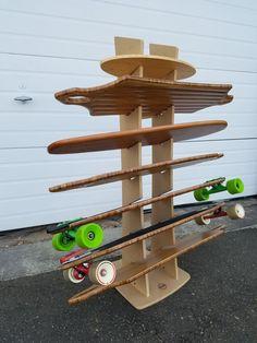Beautiful OBERAND Seven Spot Longboard Floor Rack Design Ideas