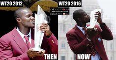 #WT20 #WorldT20 #ICCT20WC #DarrenSammy Cricket Trolls  Darren Sammy with World T20 trophy : Then & Now  http://www.crickettrolls.com/2016/04/06/darren-sammy-with-world-t20-trophy-then-and-now/