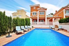 Coupon code: ebsummer2021 booking valid from 03-07-2021 to 06-08-2021 expires on 31-03-2021 #costablanca #holidayspain #villa #benissa #calpe #moraira #turisol Spain Holidays, Vacation Villas, Ideal Home, Swimming Pools, Condo, Explore, Mansions, House Styles, Outdoor Decor
