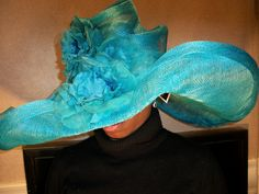 sinamay hat... looks like a church hat my aunt had back in the day