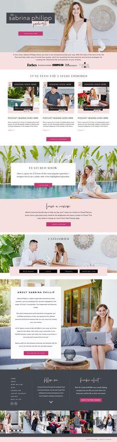www.sabrinaphilipp.com/podcast Page Design, Web Design, Personal Branding, Entrepreneur, Branding Design, Website, Yellow, Awesome, Design Web