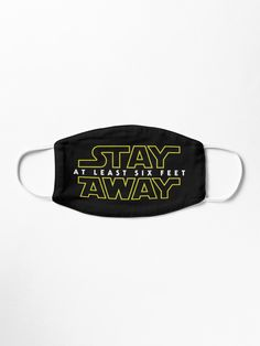 Stay at least 6 feet away please, and may the force be with you! Funny Face Mask, Easy Face Masks, Cool Masks, Diy Face Mask, Mouth Mask Design, Nose Mask, Diy Mask, Fashion Face Mask, Mask Making