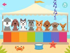 Sago Mini Puppy Preschool is an outstanding app that will entertain and amuse toddlers and preschoolers as they play with the puppies to learn about counting, shapes, colors, numbers and more.