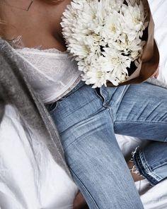 Denim + Lace :: Boho Style :: Festival :: Shorts + Cardigans :: Jackets :: Ripped Jeans :: Distressed + Tan :: Denim Style Inspiration
