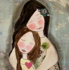 Gift of LOVE PRINT mixed media collage by Southendgirlart on Etsy, $15.00
