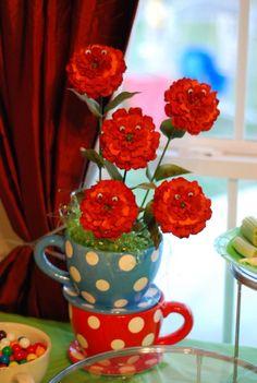 Writing In Wonderland Alice Tea Party, Wonderland, Mugs, Birthday, Tableware, Flowers, Birthdays, Dinnerware, Tumblers