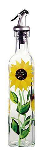 This beautiful hand painted glass cruet by Grant Howard is a great multi-purpose item for any kitchen or restaurant. You can use them for oil, vine...