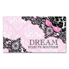 Makeup artist jewelry pretty blonde woman hot pink business card 311 dream in leopard lace girly pink business card colourmoves