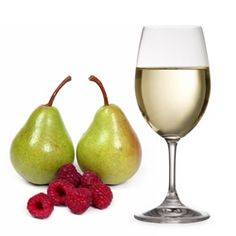 Pear Raspberry Chardonnay  -     Ingredients: 2 frozen ripe bananas, 3⁄4 cup frozen pear (sliced), 1⁄4 cup frozen raspberries, 2 frozen cubes of chardonnay. (Freeze leftover white wine in ice cube trays).
