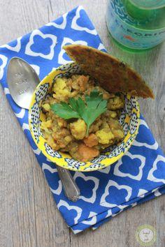 Indian lentil cauliflower soup.
