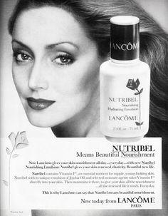NANCY DUTIEL Lancome Ad 1981
