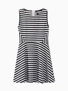 Black Stripes Skater Dress | Choies