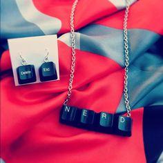 Day 6: Keyboard Keys Jewelry #30DoC