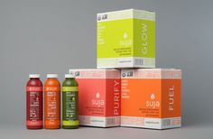 Suja - The Dieline - Love the box packaging