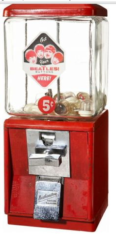 This is one of the reasons Mom hated taking us to the grocery store.  we could not pass by the 5 cent machines with out getting something!