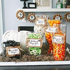 Halloween Candy Display