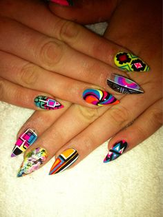 Abstract Inspired Manicure