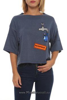 Halbarm Pullover Josefine - Waterproof - Blau