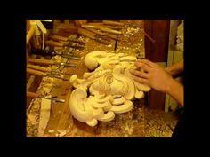 WOOD CARVED PARTS FOR FURNITURE , Woodcarving by Master Wood Carver Alexander Grabovetskiy - YouTube